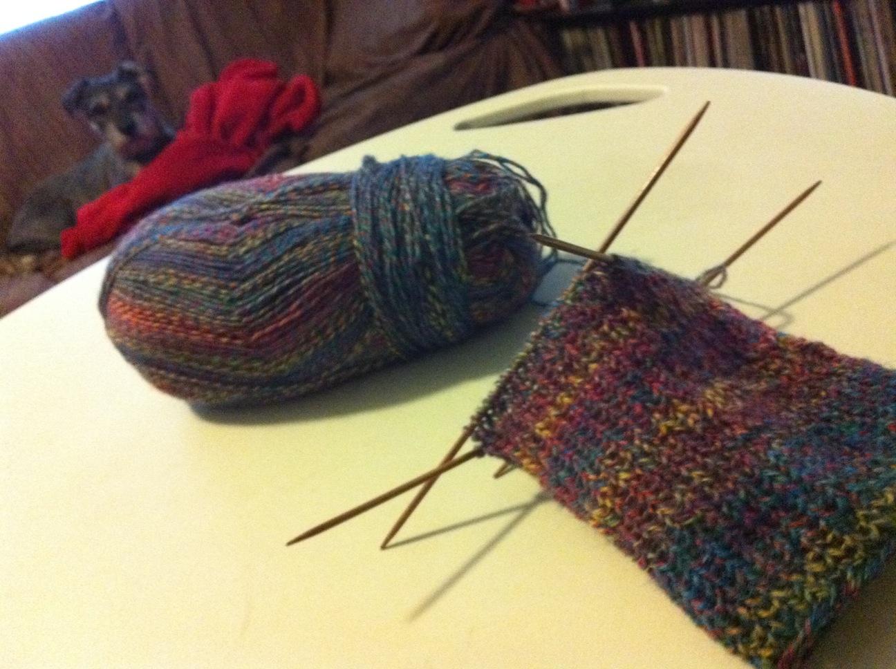 In Progress: First Pair of Socks