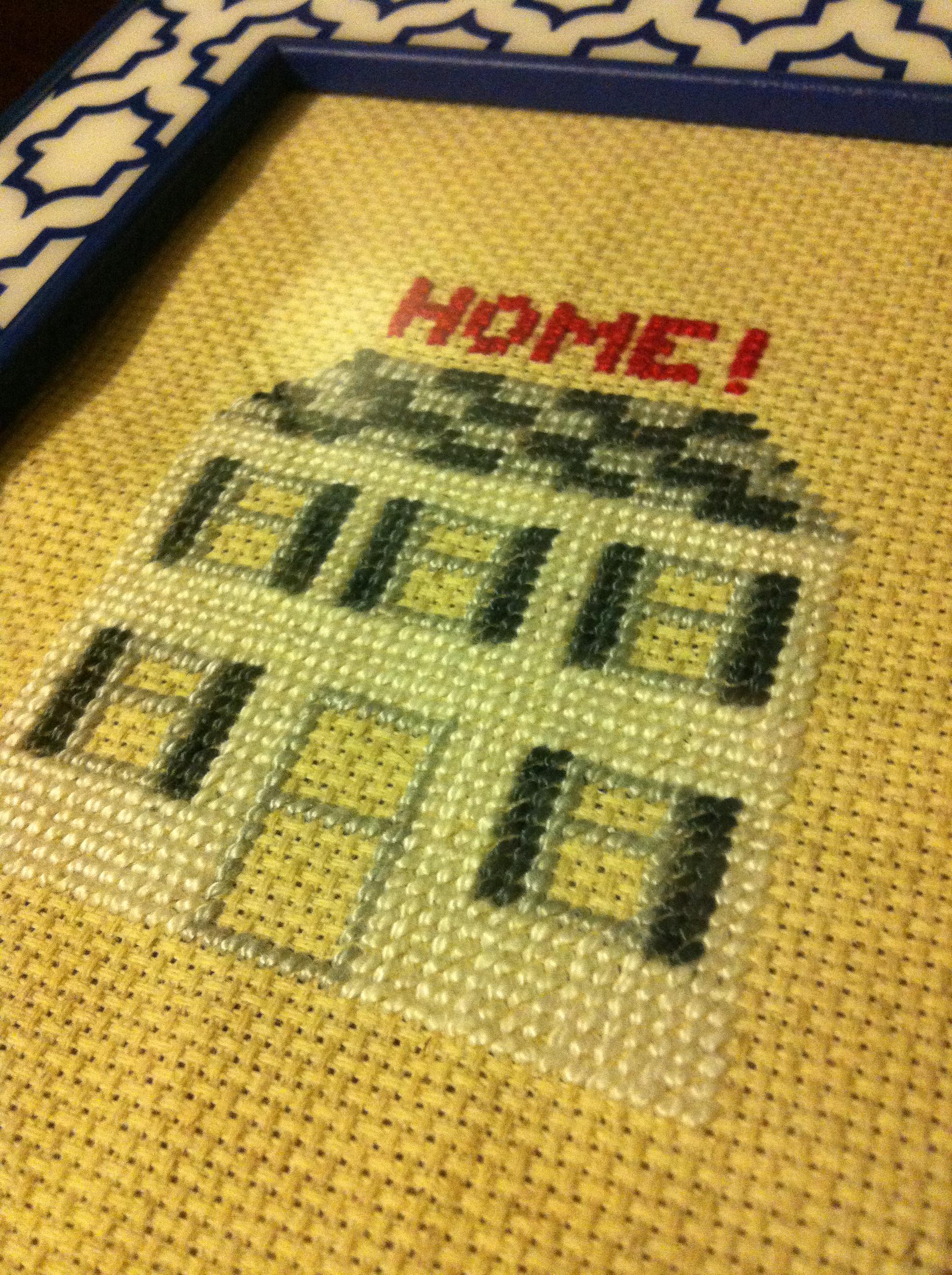 How-to: Custom Home Sweet Home Cross Stitch