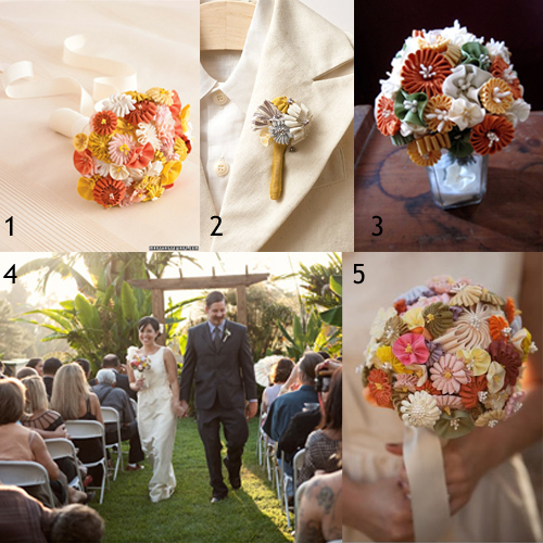 How-to: Homemade Wedding Bouquet  at HandsOccupied.com