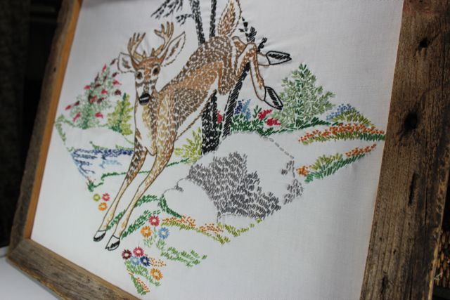 My Family's Crafts: Giant Deer Embroidery