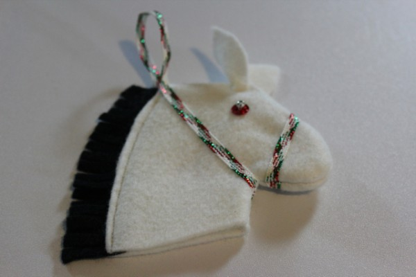 Vintage Felt Stick Horse Ornament