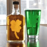 How-to: Etched Shamrock Flask & Pint Glass