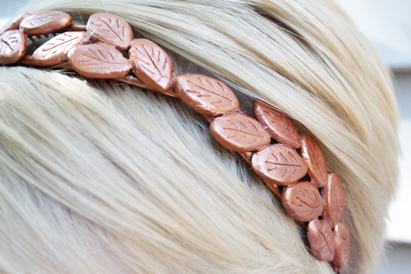 How-to: Bronze Laurel Headband | HandsOccupied.com