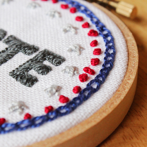 Vote Embroidery & Mini Star Stitch How-to | HandsOccupied.com