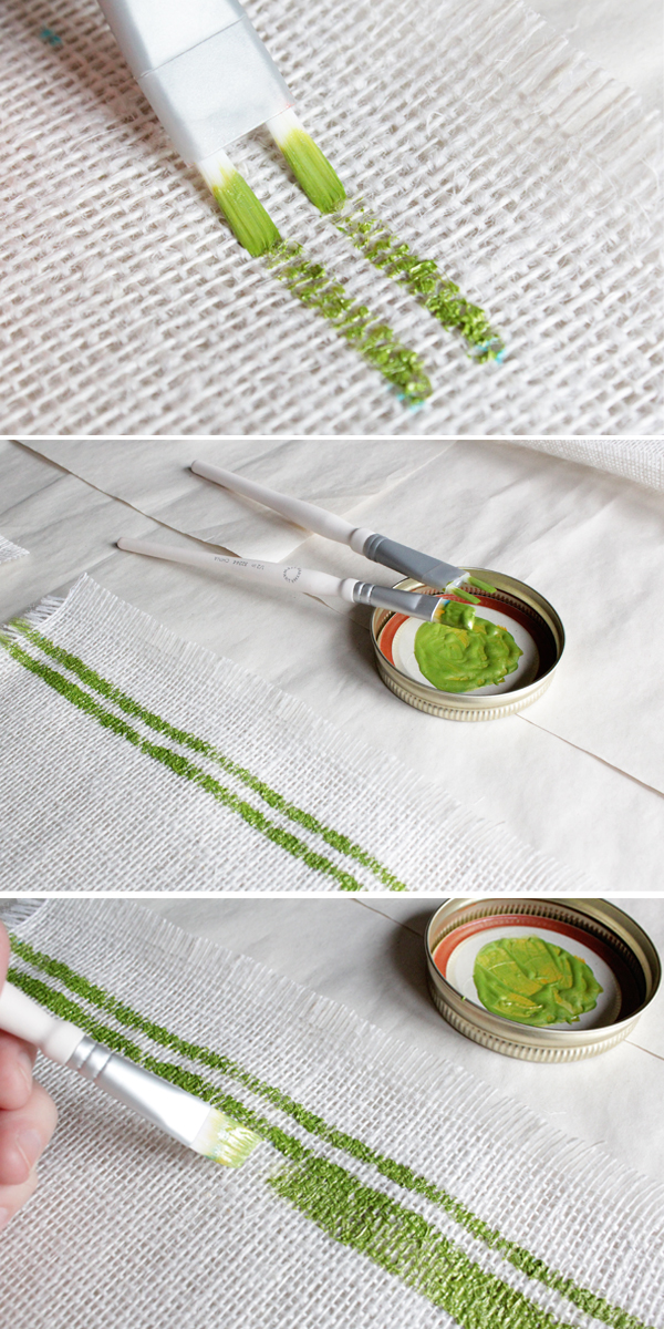 How-to: Tribal Placemats & Table Runner | HandsOccupied.com