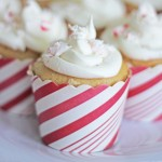 Peppermint Schnapps Swirl Cupcakes