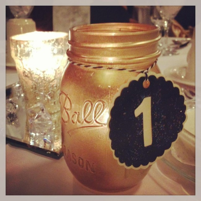 How-to: Black & Gold Wedding Table Numbers