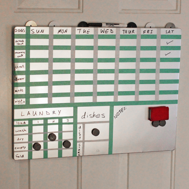 How-to: Home Scheduler Board | HandsOccupied.com