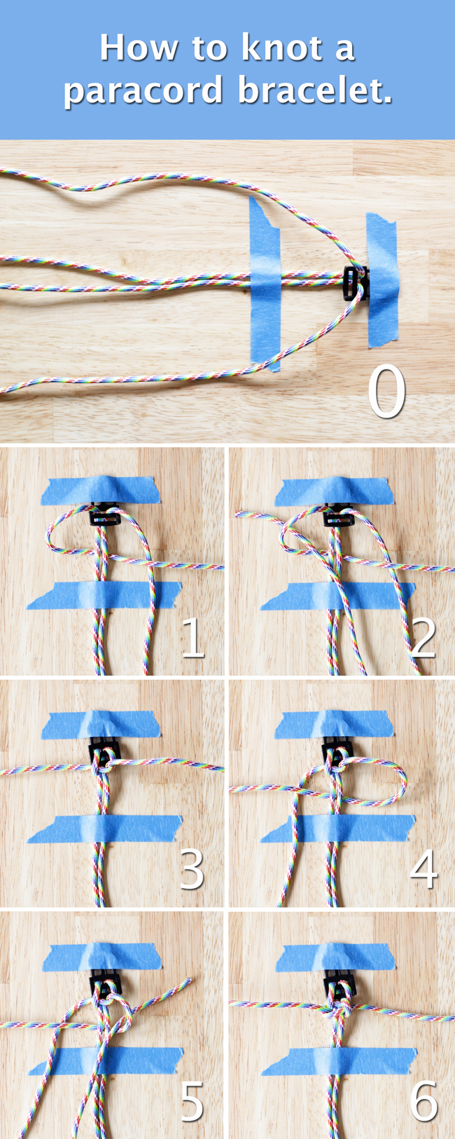 How to Knot a Paracord Bracelet or Collar - Tutorial at HandsOccupied.com