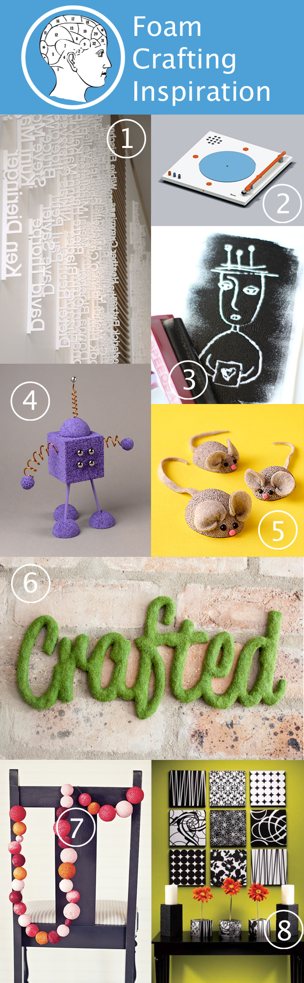 Foam Crafting Inspiration at HandsOccupied.com