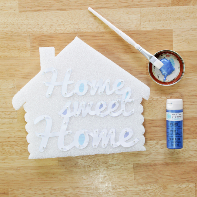 How-to: Home Sweet Home Cabin Sign at Hands Occupied