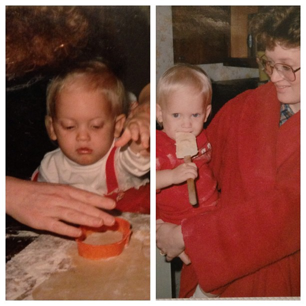 My Mom and I baking as a baby. | HandsOccupied.com