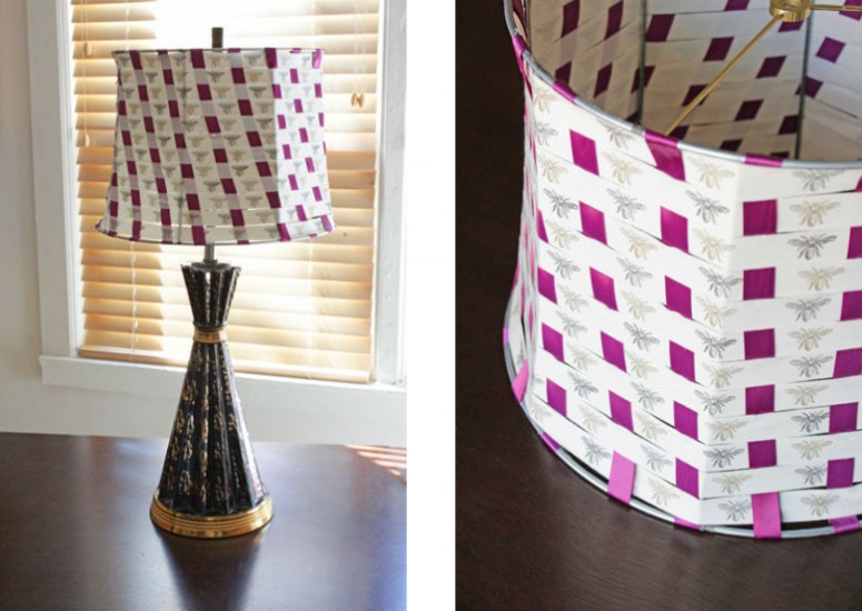 How-to: Woven Ribbon Lampshade at HandsOccupied.com