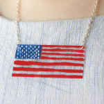 How-to: Painted Acrylic Flag Necklace