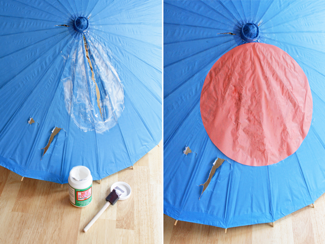 How-to: Dotted Parasol Makeover - HandsOccupied.com