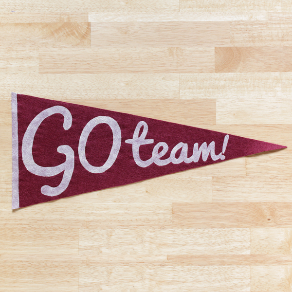 How-to: Vintage Style Pennant | Hands Occupied