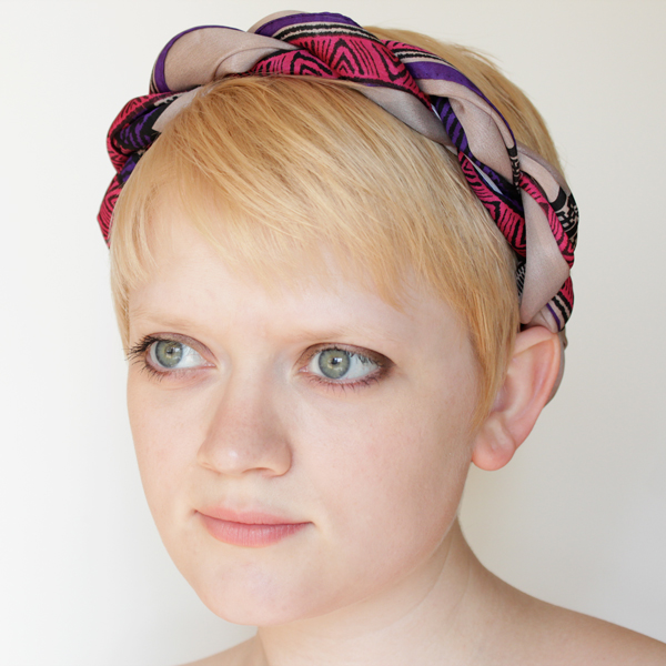 How-to: Turn a Vintage Scarf into a Headband without Destroying It - HandsOccupied.com