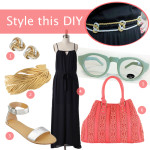 Style this DIY: Knotted Metallic Belt