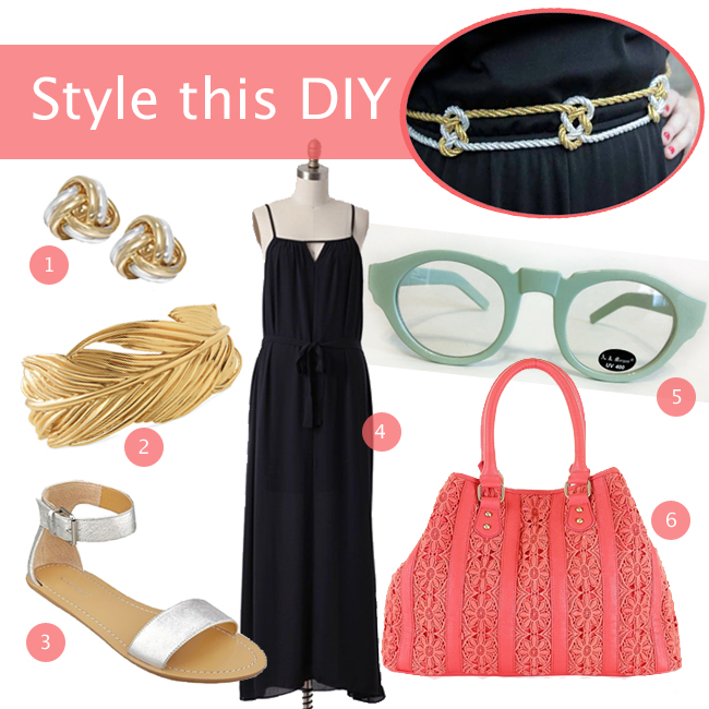 Style this DIY: Knotted Metallic Belt | Hands Occupied