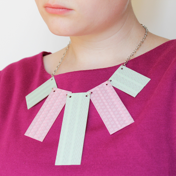 How-to: Washi Tape Statement Necklace - HandsOccupied.com