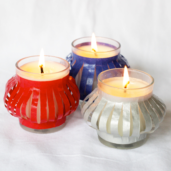 How-to: Lantern-style Votive Luminaries | Hands Occupied