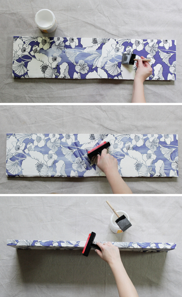 How-to: Fabric Covered Shelves at Hands Occupied