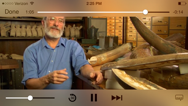 The Field Museums Tours mobile app.
