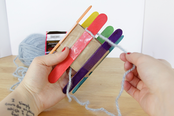 How-to: DIY a Knitting Loom & Knit With It | Hands Occupied
