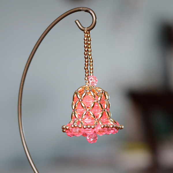 Vintage Beaded Bell Ornament
