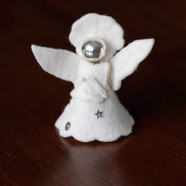 Vintage Felt Angel Ornament