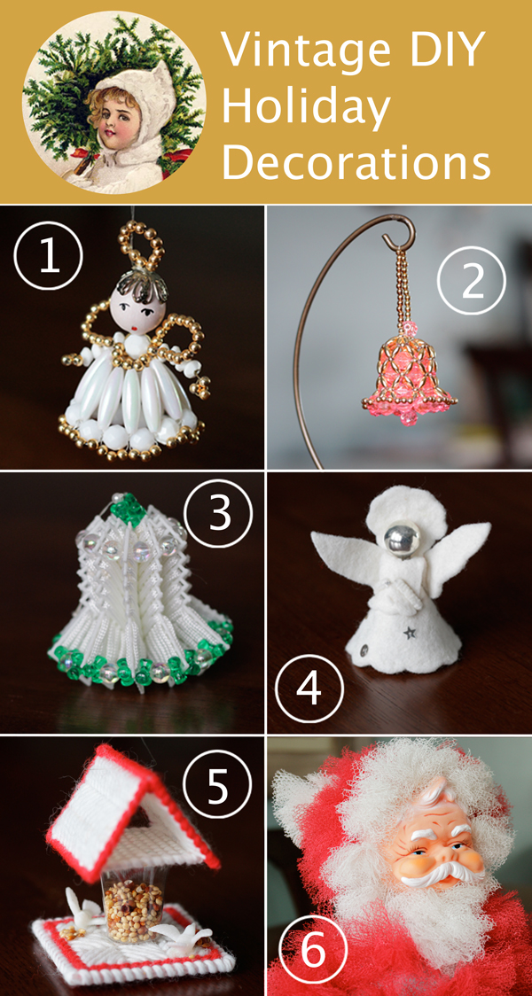 6 Beautiful Vintage Holiday Decorations at Hands Occupied