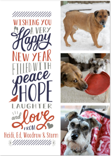 New Year Photo Cards with Minted at Hands Occupied