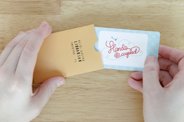 DIY Business Card Envelopes & New Business Cards for Hands Occupied