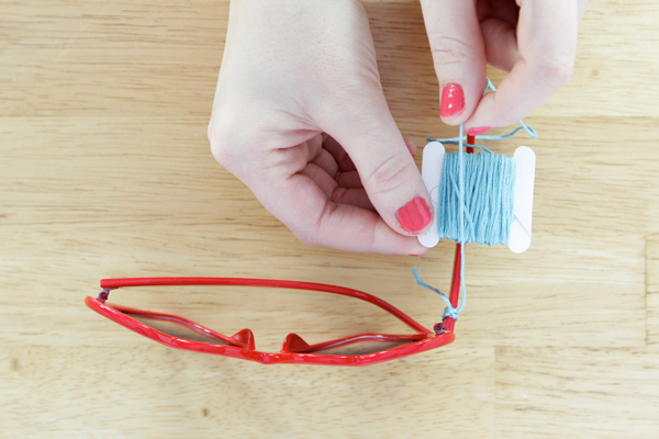 Easy Friendship Bracelet Sunglasses, Thread Wrapped Glasses