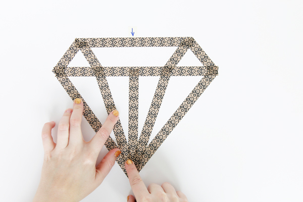 Washi Tape Diamond Wall Decor