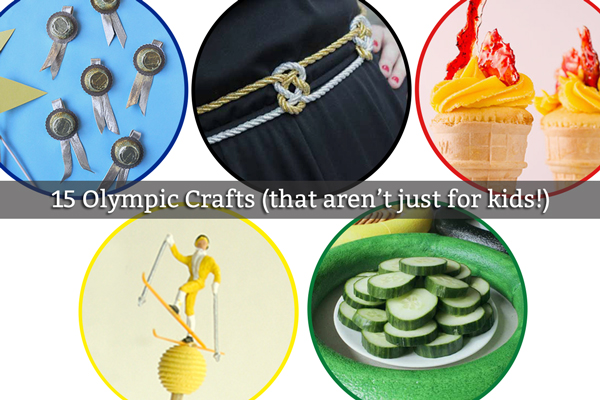 15 Olympic Crafts (that aren't just for kids!) at Hands Occupied