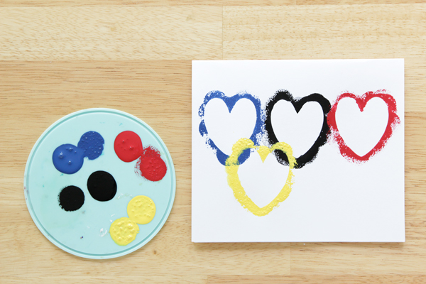 Olympic Rings Valentine - Easy Valentine's Day Card DIY Craft