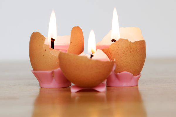 DIY Eggshell Tea Lights