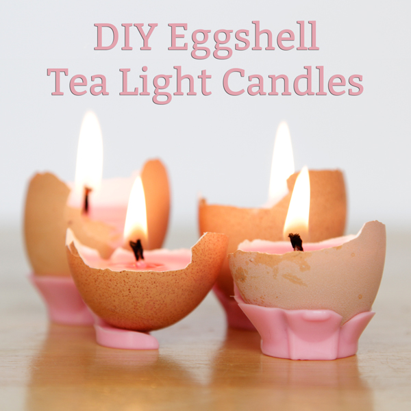 DIY Eggshell Tea Light Candles at HandsOccupied