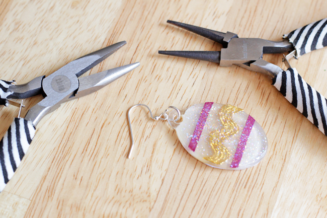 Dimensional Easter Egg Earrings DIY