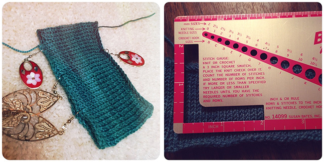 Hands Occupied Knit Along Day 1: Testing Gauge & Casting On