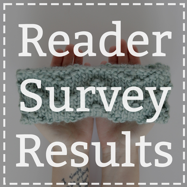 Reader Survey Results (& Giveaway Winners!)