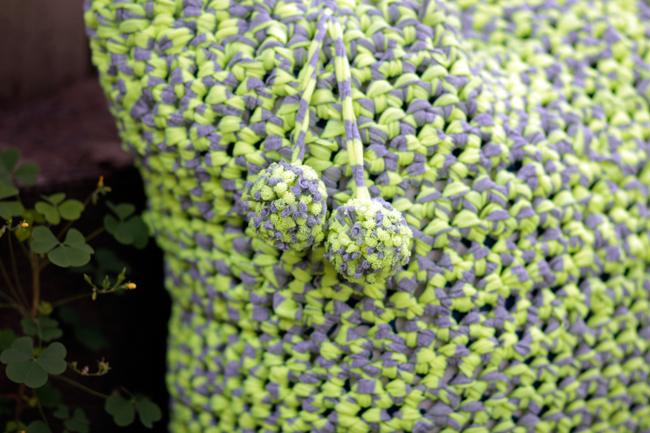 Crochet T-shirt Yarn Tote Pattern at HandsOccupied.com