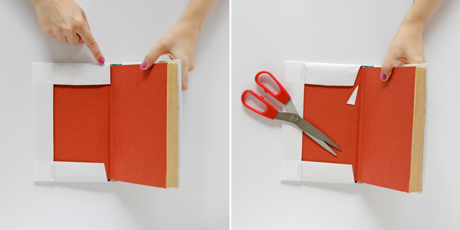How to DIY Book Covers - Click through for tutorial.