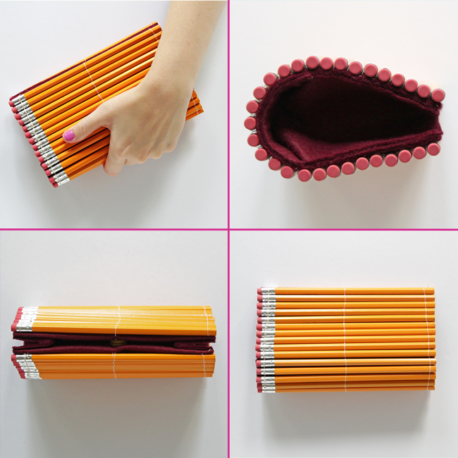 DIY Pencil Clutch