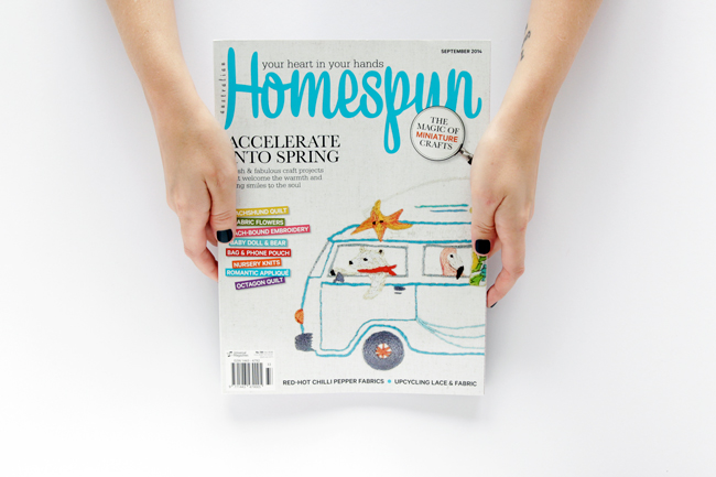 Hands Occupied's DIY Knitting Nancy in Homespun Magazine