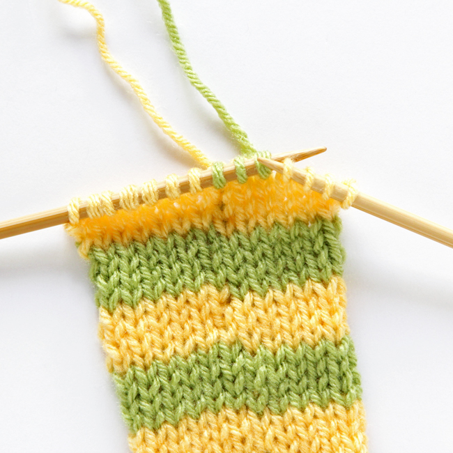 How to knit perfect stripes at handsoccupied.com