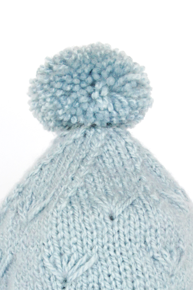 Winter Sea Stocking Cap - Get the free knitting pattern for this adorable hat at HandsOccupied.com!