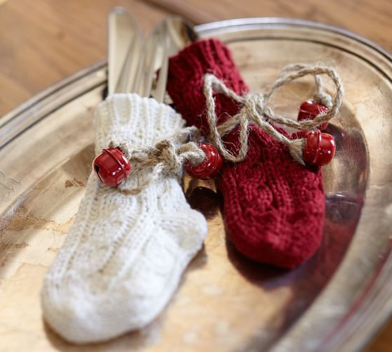Mini Christmas Stockings from Pottery Barn via Hands Occupied
