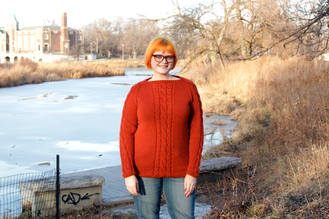 The Remy Pullover Sweater, a free knitting pattern in sizes XS-XXL by Hands Occupied